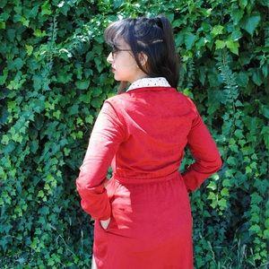 Velvety red dress